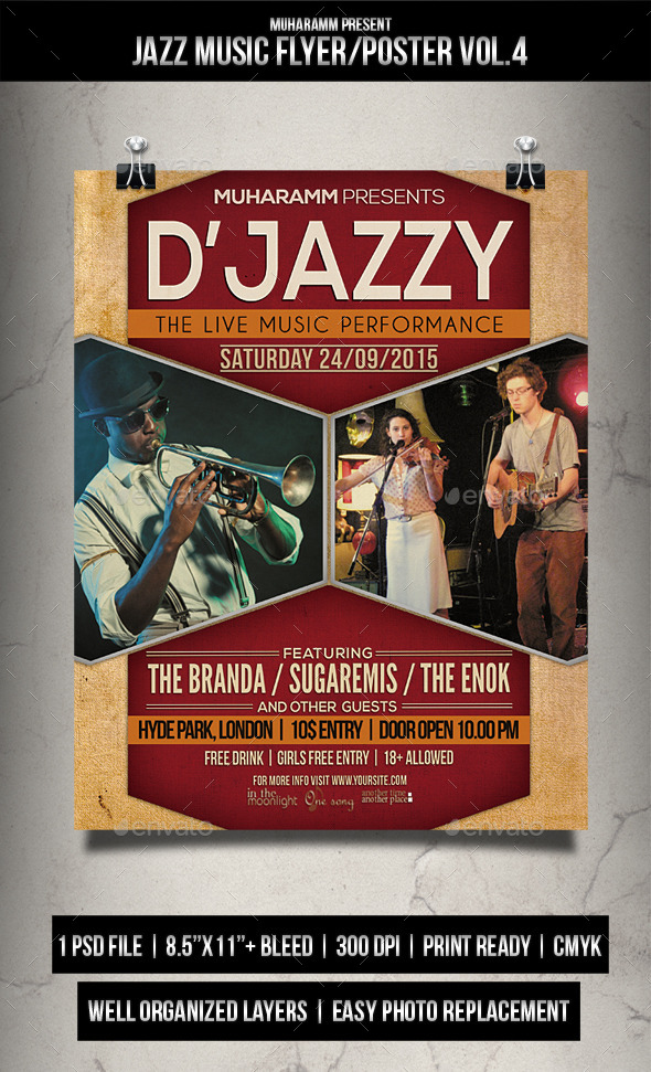 Jazz Music Flyer / Poster Vol.4 - Events Flyers