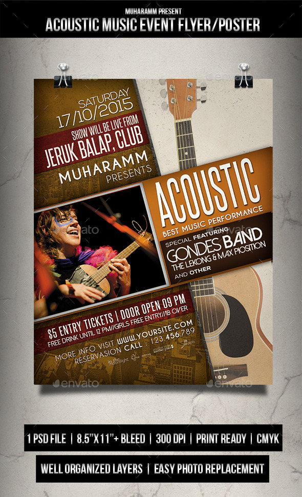 Acoustic Music Event / Flyer Poster - Events Flyers