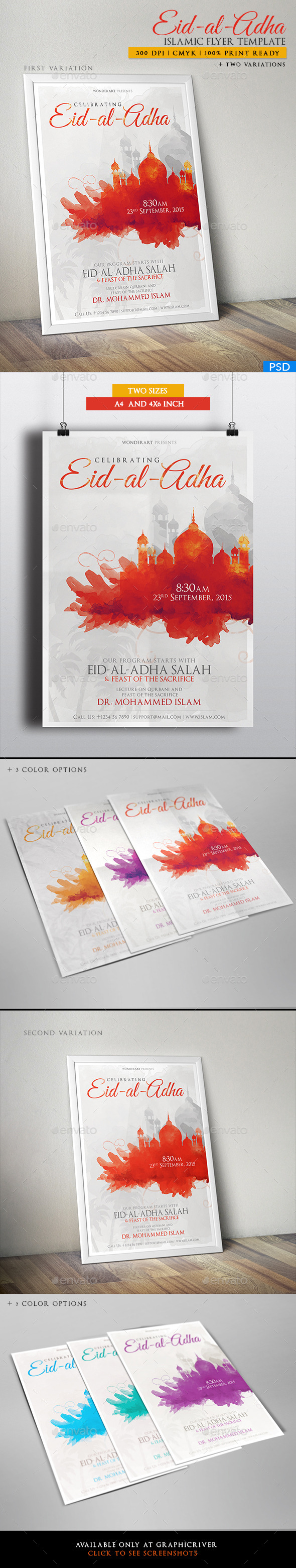 Eid-al-Adha Islamic Celebration Poster/Flyer - Miscellaneous Events