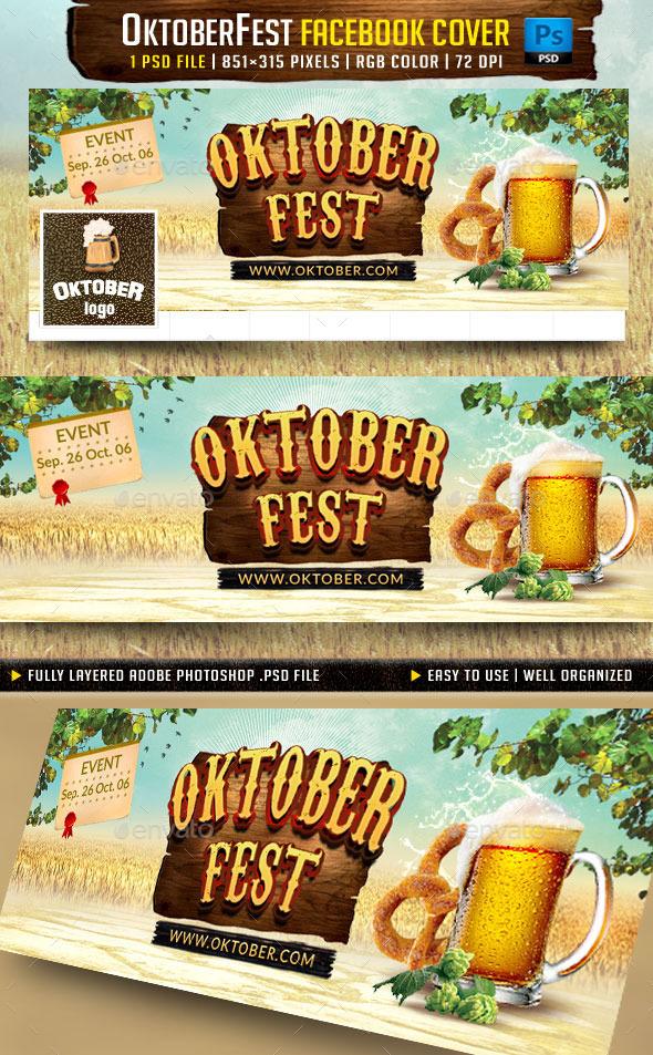 OktoberFest Facebook Cover v3 - Facebook Timeline Covers Social Media