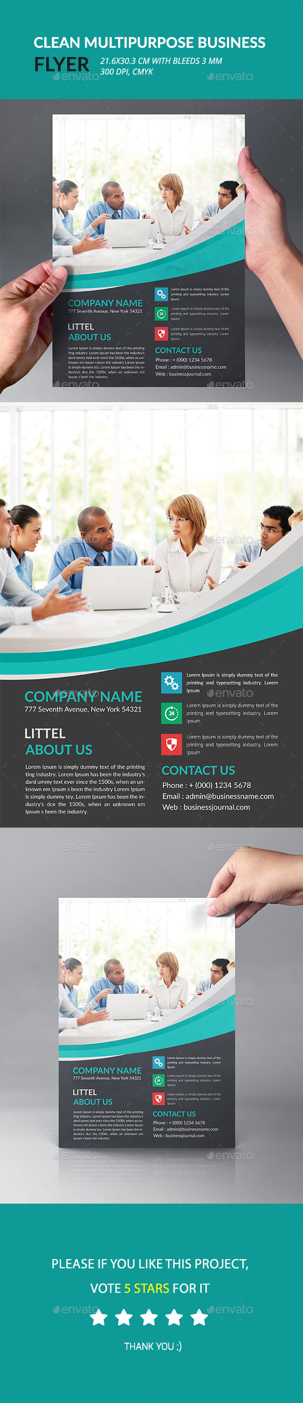 Clean Multipurpose Business Flyer - Corporate Flyers