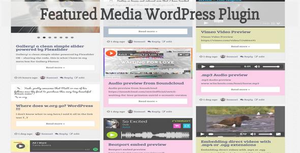 Featured Media WordPress Plugin - CodeCanyon Item for Sale