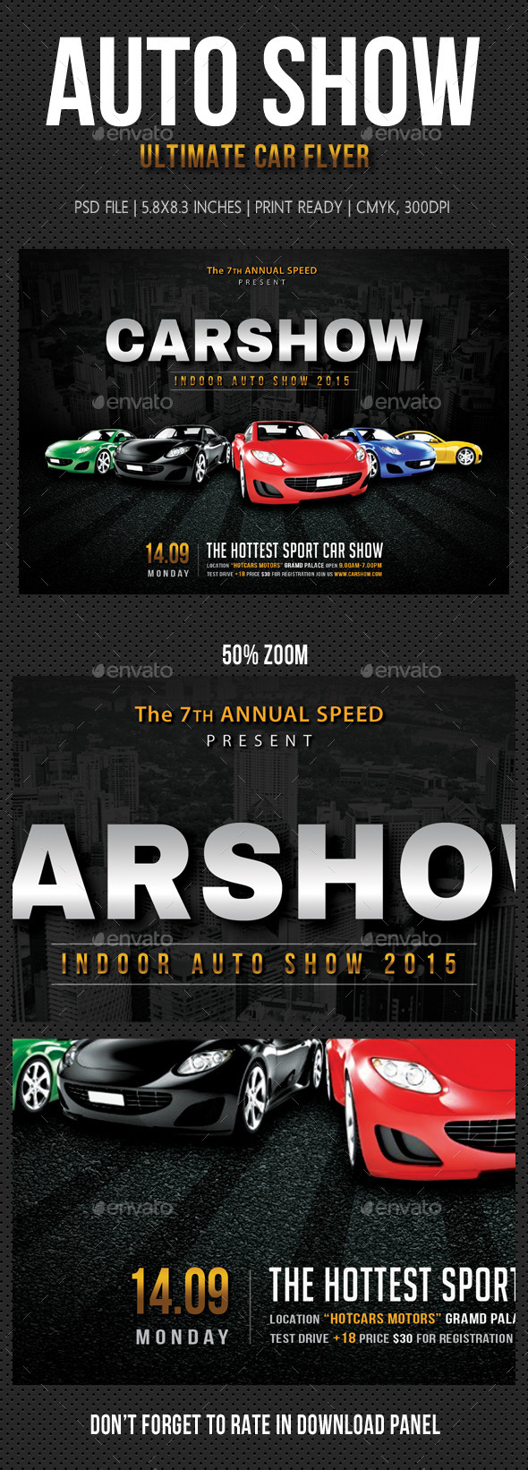 Auto Show Flyer V01 - Events Flyers