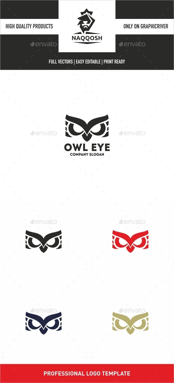 Owl Eye - Symbols Logo Templates