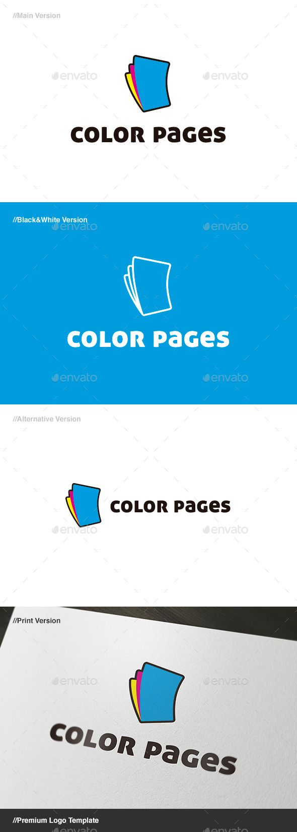 Color Pages Logo - Objects Logo Templates