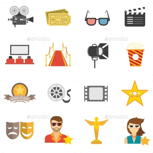 Movie Icons Flat - Man-made Objects Objects