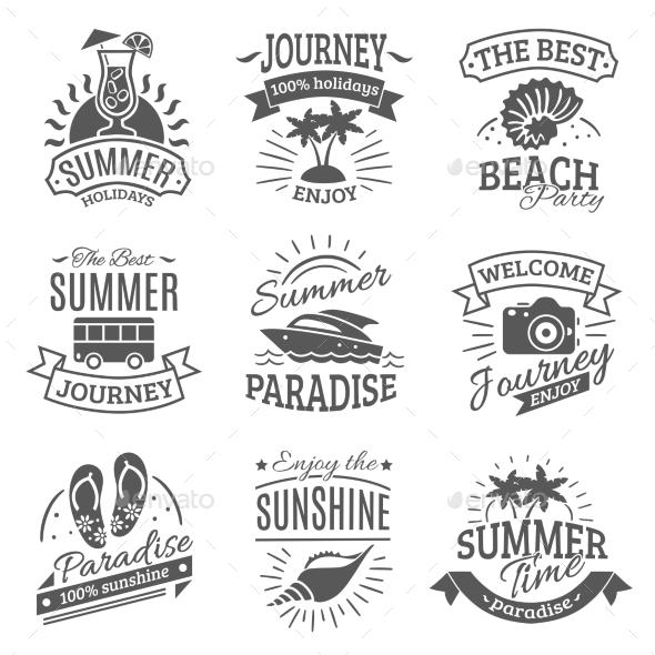 Summer Holidays Black Labels Set - Seasons Nature