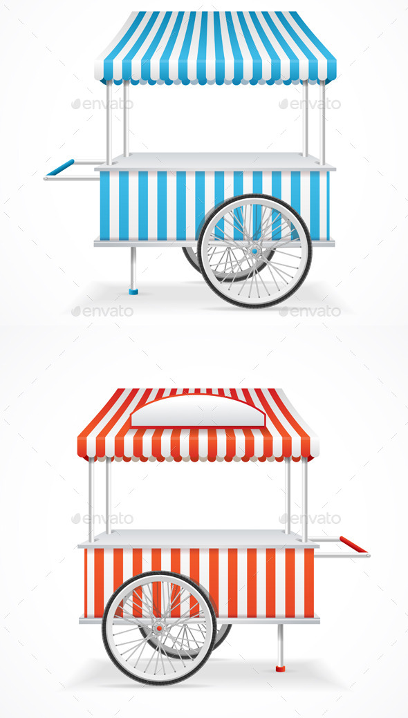 Market Cart - Man-made Objects Objects