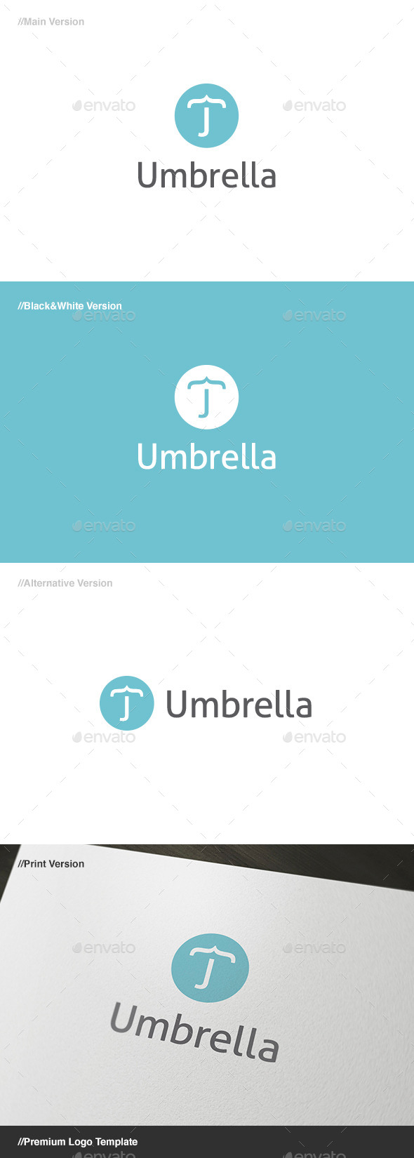 Umbrella Logo - Letters Logo Templates