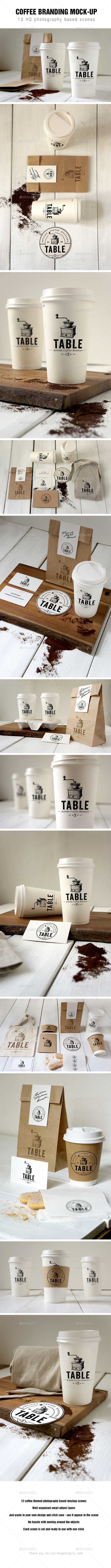 Coffee Branding Mockup - Food and Drink Packaging