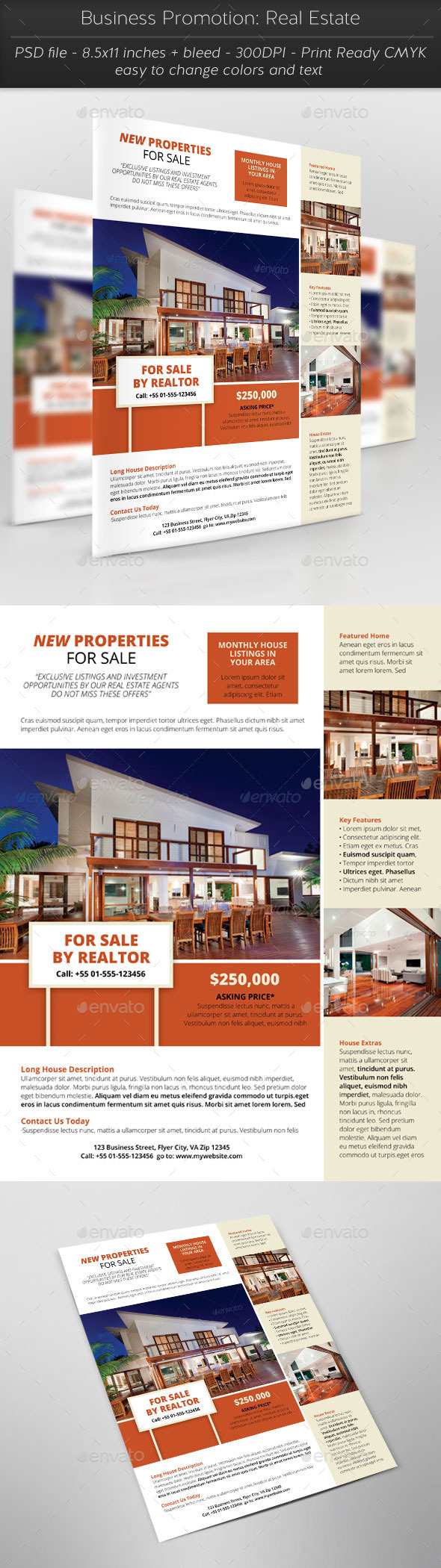 Business Promotion: Real Estate - Flyers Print Templates