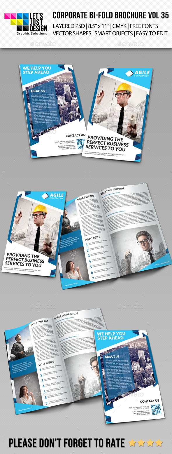 Creative Corporate Bi-Fold Brochure Vol 35