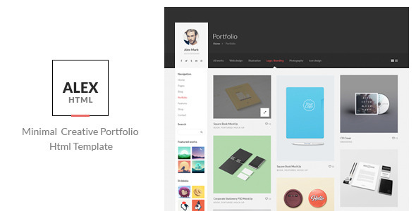 Alex – Minimal Creative Portfolio Html Template