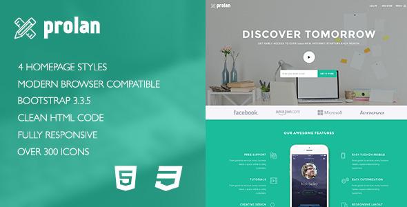 Prolan – Startup Landing Page