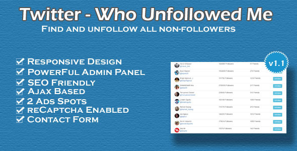 Download Twitter tool - who unfollowed me nulled version