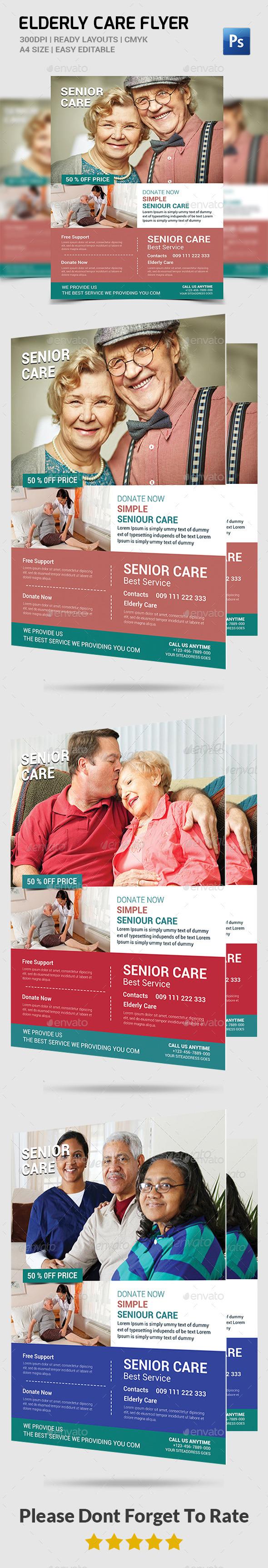 Elderly Care: Flyer Template - Corporate Flyers