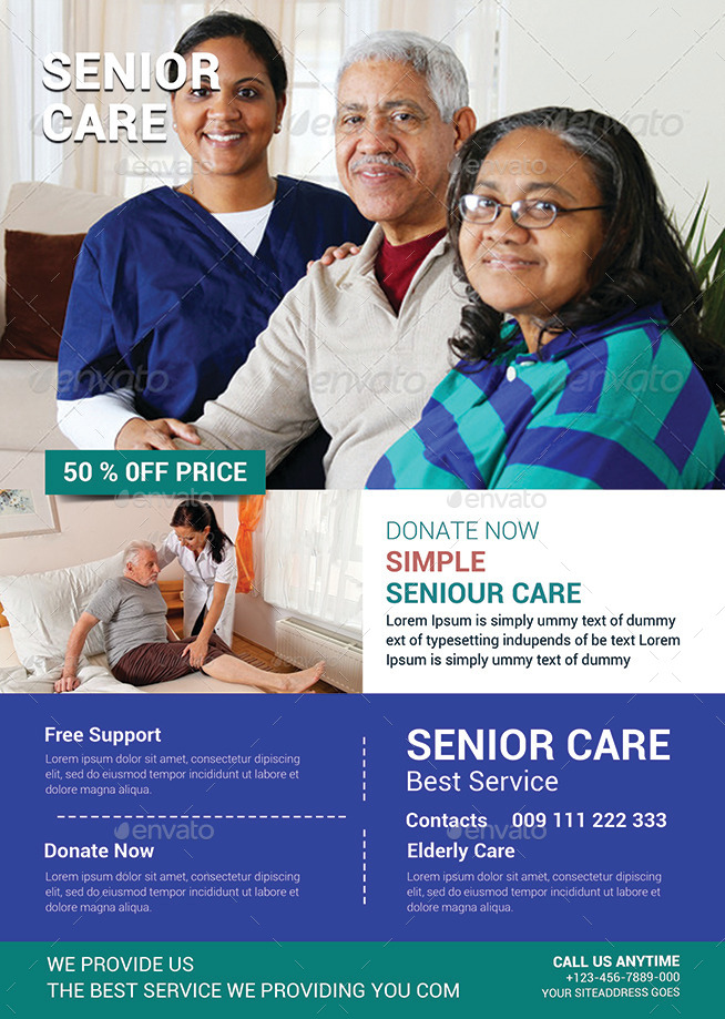Elderly Care Flyer Template By Afjamaal  Graphicriver