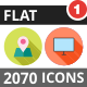 2070 Vector Long Shadow Colorful Flat Icons - GraphicRiver Item for Sale