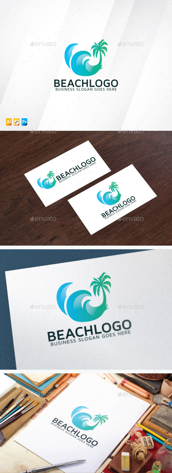 Beach Logo - Nature Logo Templates