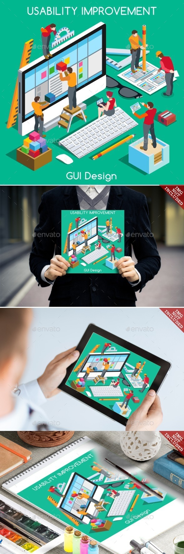 GUI design People Isometric - People Characters