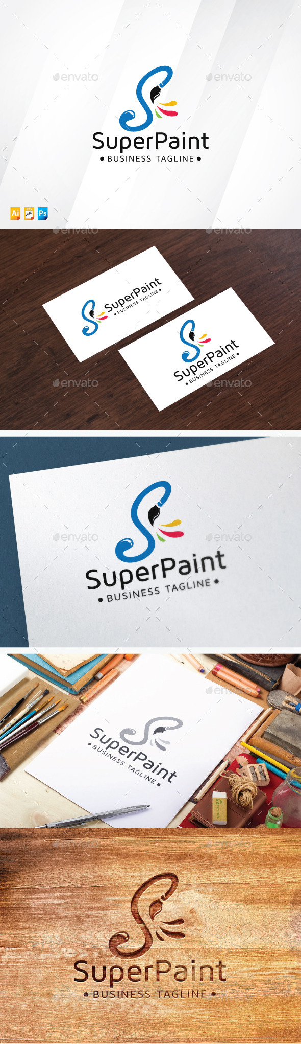 Super Paint Logo - Letters Logo Templates