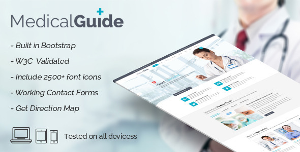 MedicalGuide – Health and Medical HTML Template
