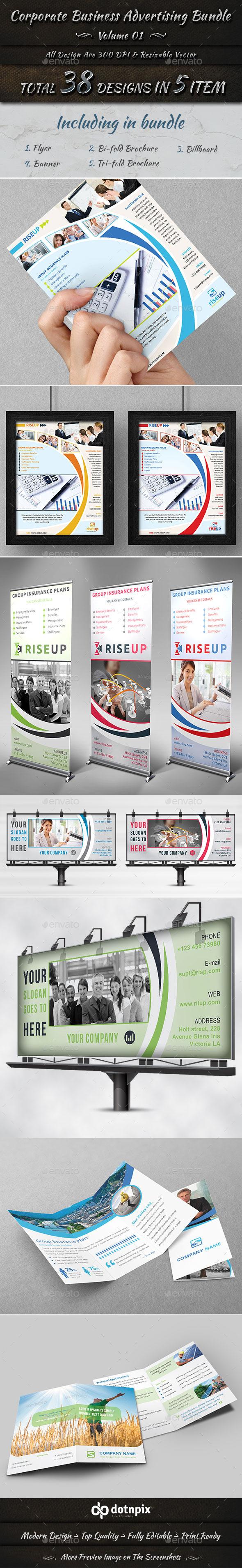 Corporate Business Advertising Bundle | Volume 1 - Corporate Flyers