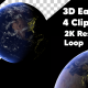 3D Earth Globe 4 Clips 2K Resolution - VideoHive Item for Sale