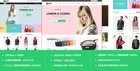 Classic - Responsive Multipurpose HTML5 Template - Shopping Retail