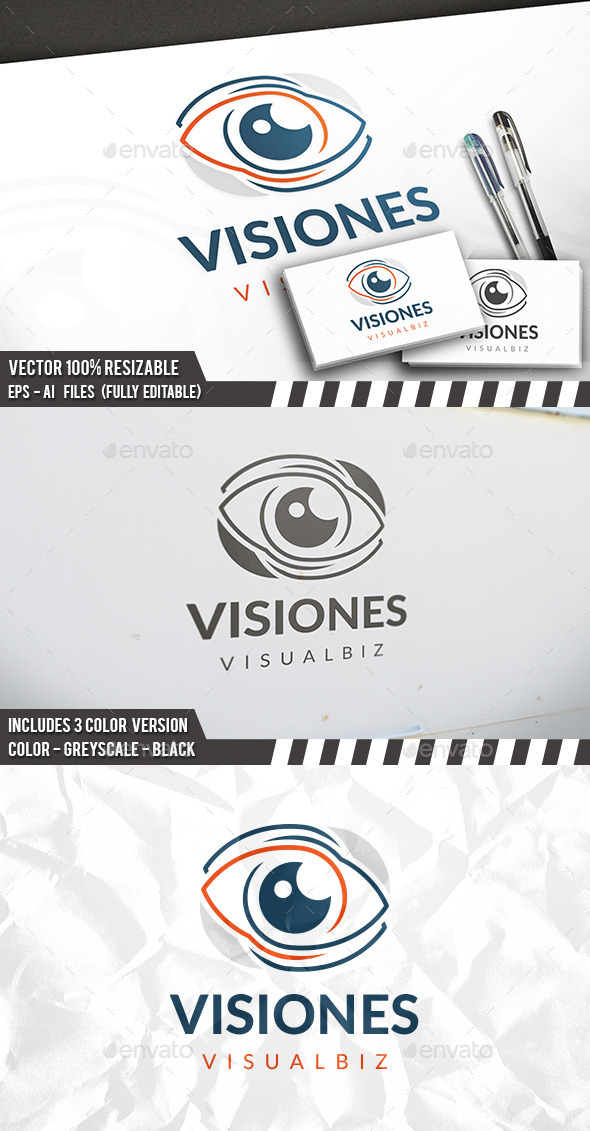 Eye Modern Logo - Objects Logo Templates