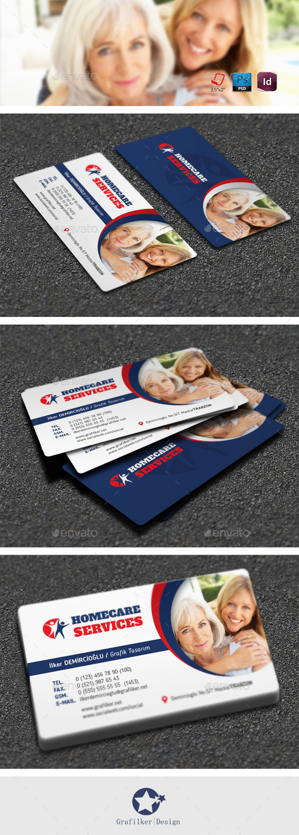 Home Care Business Card Templates - Corporate Business Cards