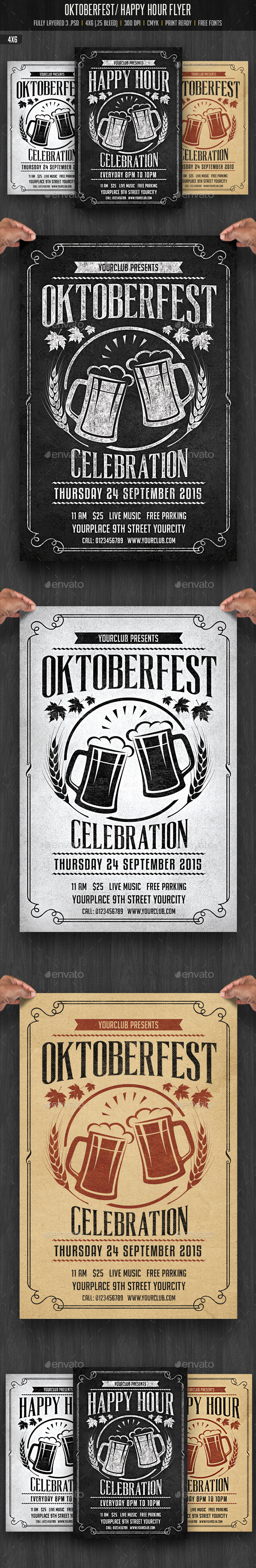 Oktobefest / Happy Hour Flyer - Events Flyers