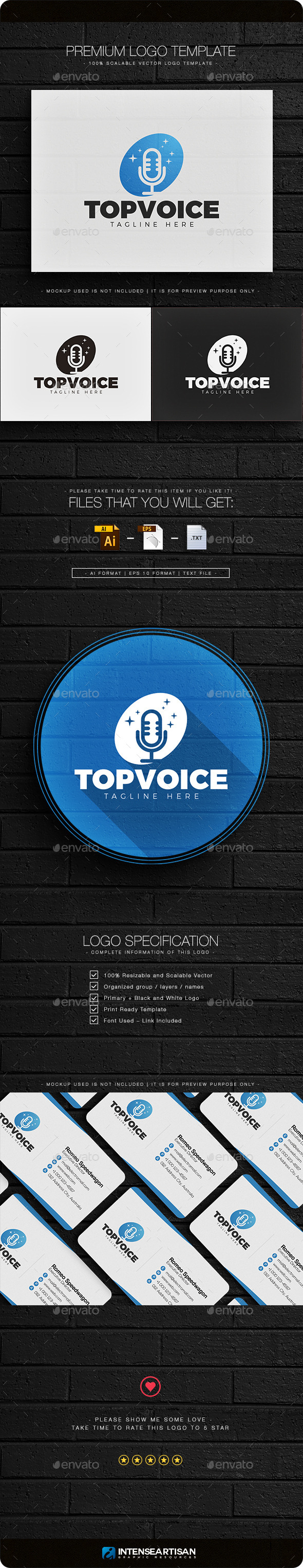 Top Voice Logo - Objects Logo Templates