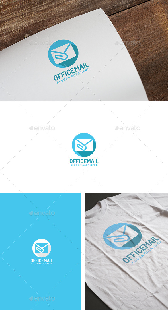 Office Mail Logo - Abstract Logo Templates