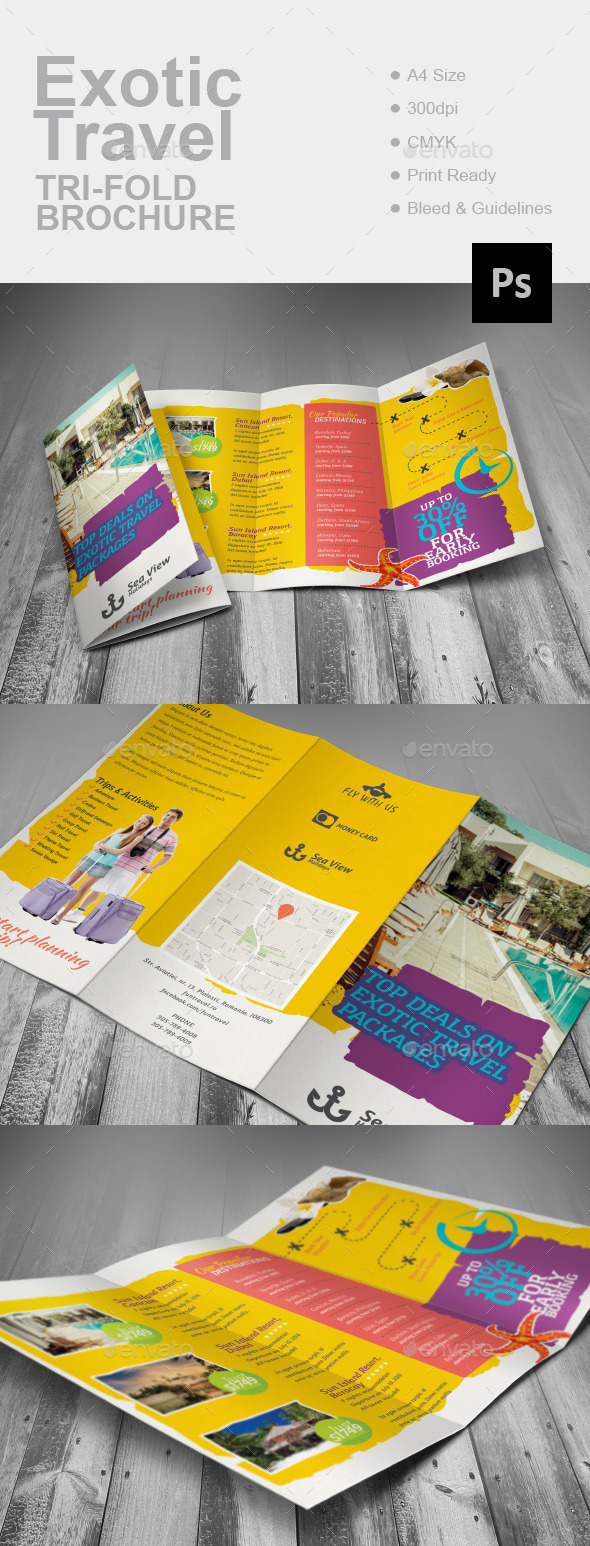 Exotic Travel Tri-Fold Brochure
