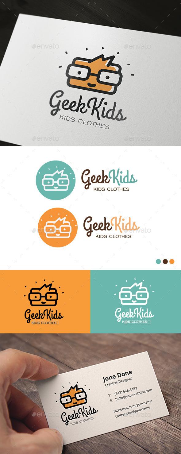 Geek Kids - Humans Logo Templates