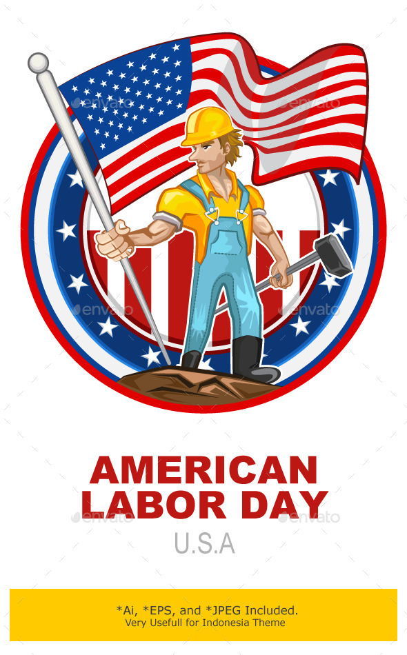 American Worker Labor Day - Seasons/Holidays Conceptual