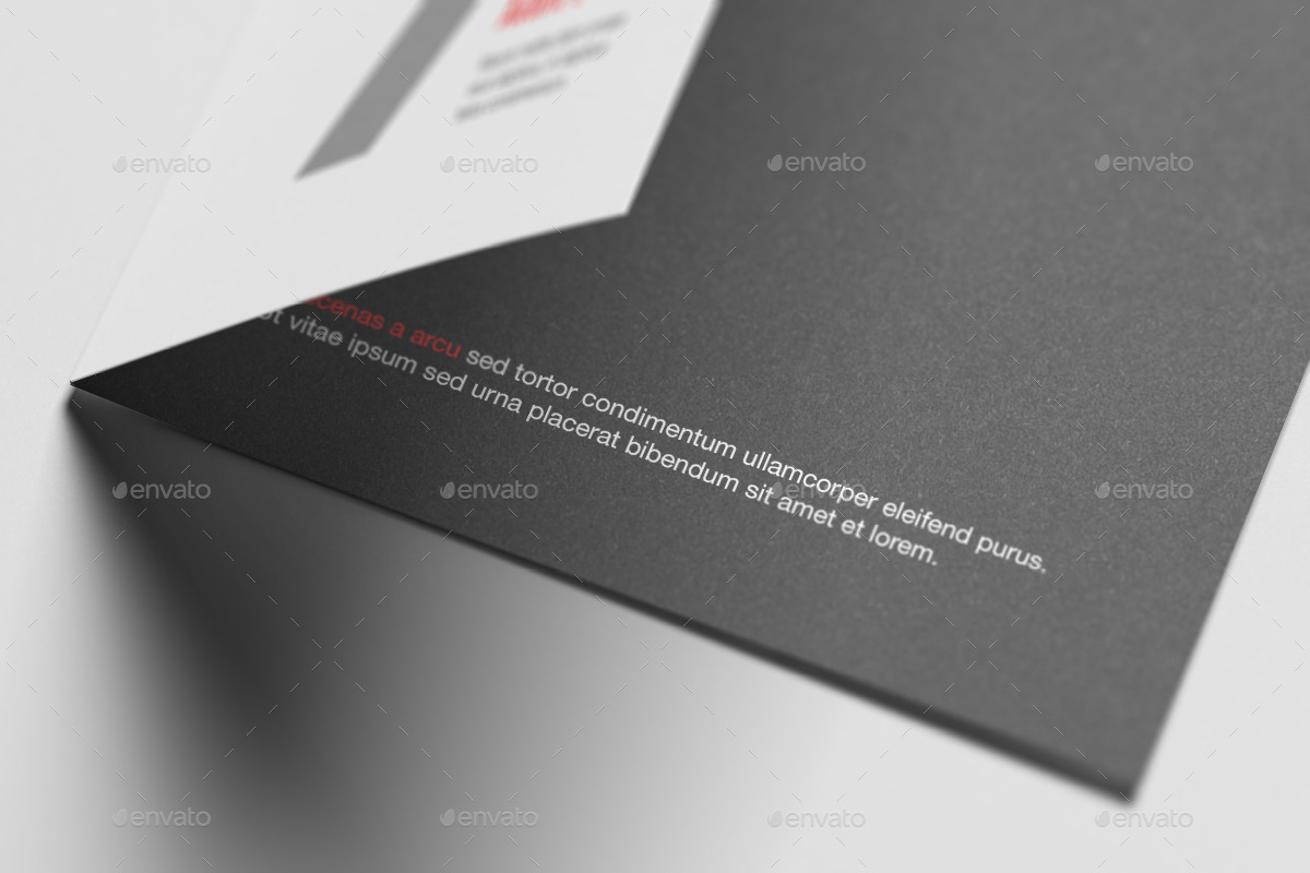 A6 Bi-Fold / Half-Fold Invitation Brochure Mock-Up