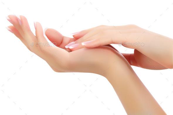 Female Hands - Conceptual Vectors