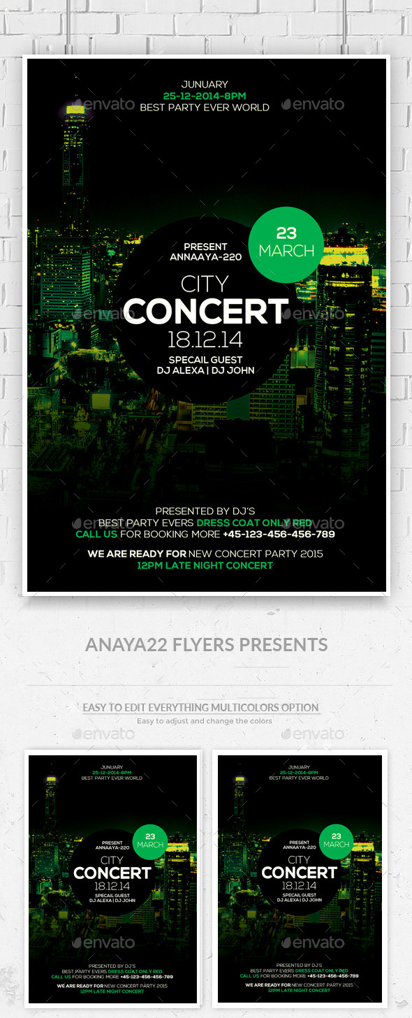 City View Party Flyer Template - Clubs & Parties Events