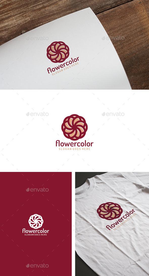 Flower Color Logo - Logo Templates