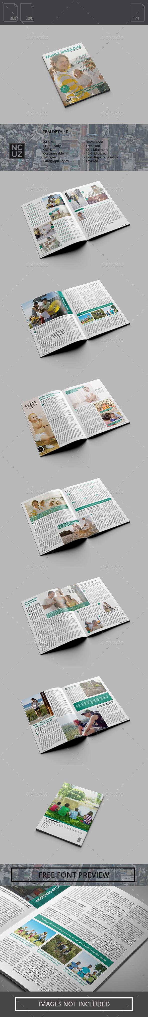 Family Magazine - Magazines Print Templates