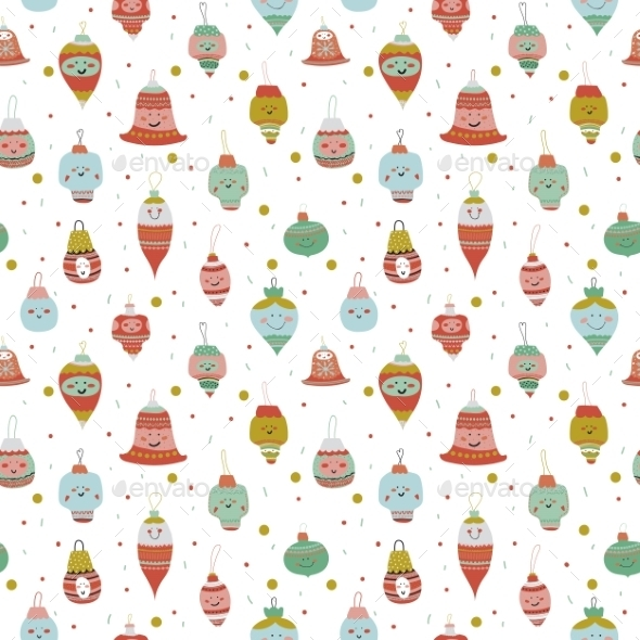 Christmas And New Year Greeting Pattern