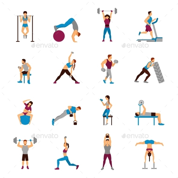 Strength Training Workout Set - Sports/Activity Conceptual