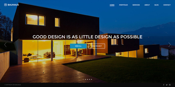 Bauhaus – Architecture & Portfolio WordPress Theme