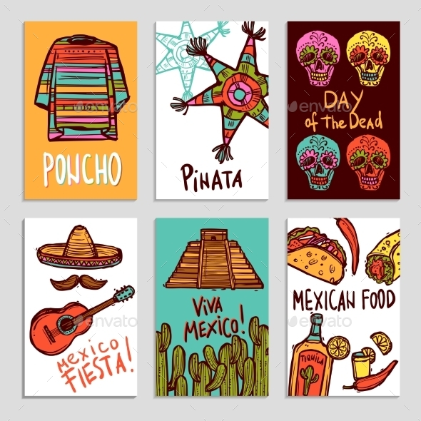 Mexico Poster Set - Travel Conceptual