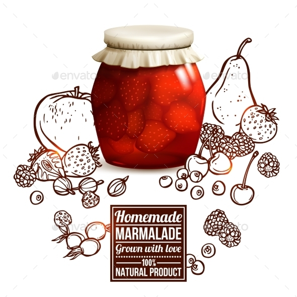 Marmalade Jar Concept - Food Objects