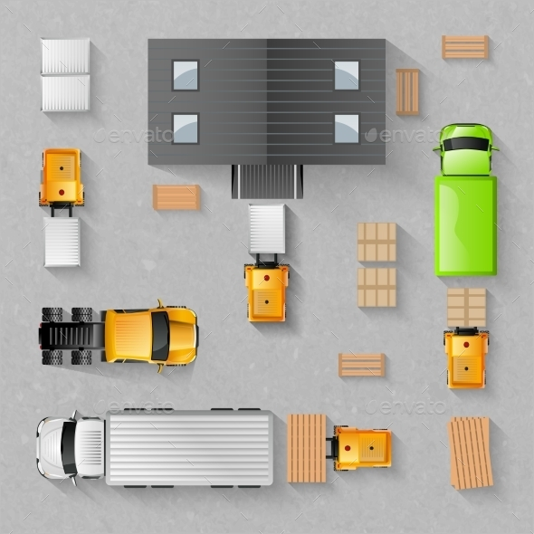Warehouse Top View - Miscellaneous Vectors