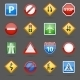 Road Traffic Signs Glossy Icons Set - GraphicRiver Item for Sale