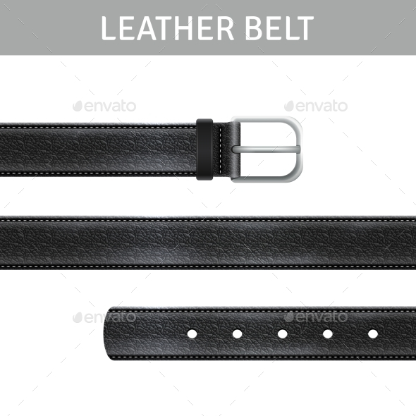 Leather Belt Set - Man-made Objects Objects